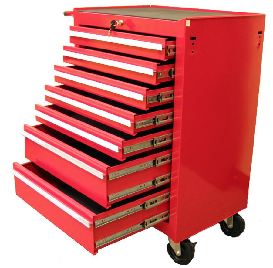 "Excel 26"" Steel roller cabinet with 7 ball bearing slide drawers"