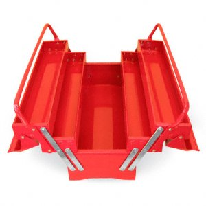 Excel 5 Compartment Tool Box - Red