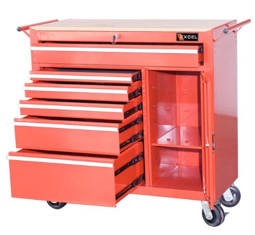 Excel 6 Drawer Ball-Bearing Locking Tool Cabinet