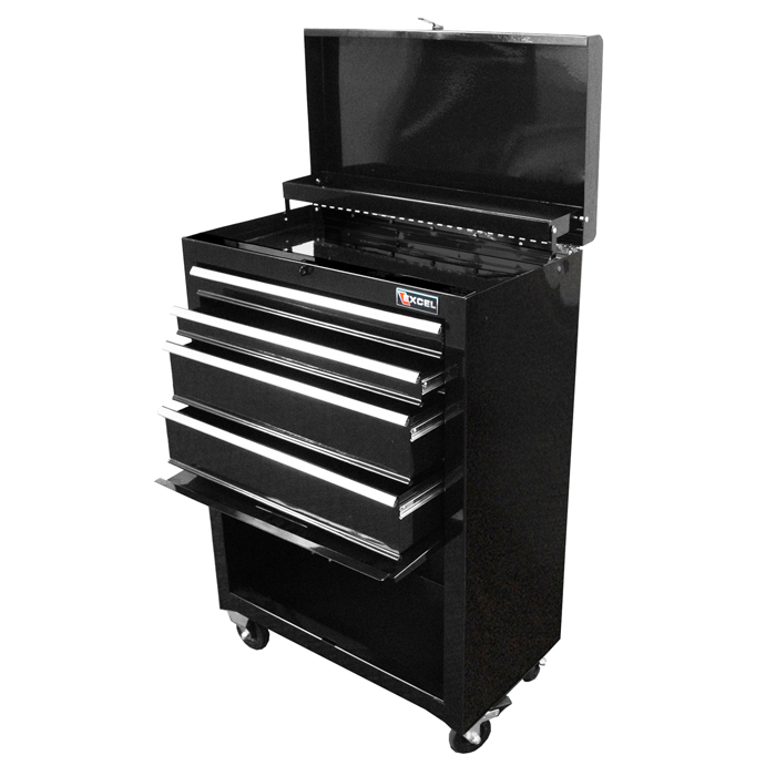 "Excel 22"" Steel roller cabinet with four ball bearing slide drawers"