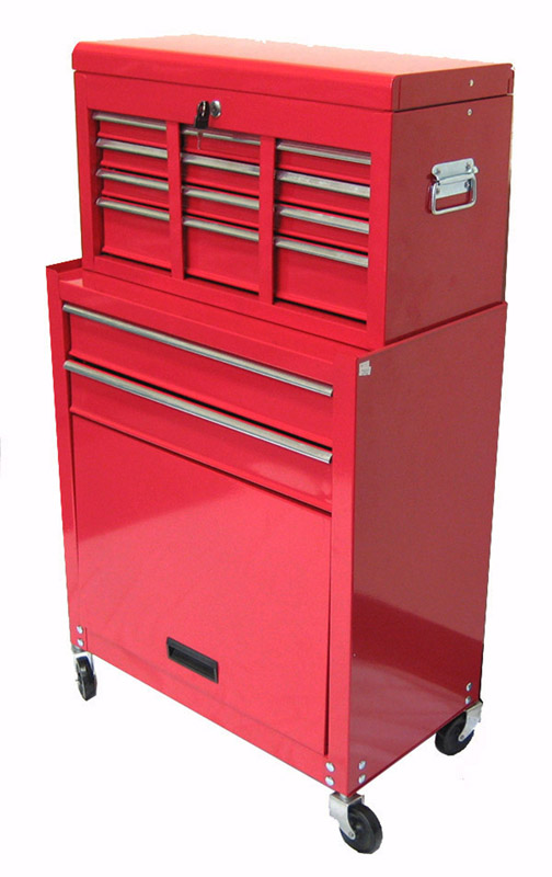 "Excel 24"" Steel chest & roller cabinet combo with 8 ball bearing slide drawers"