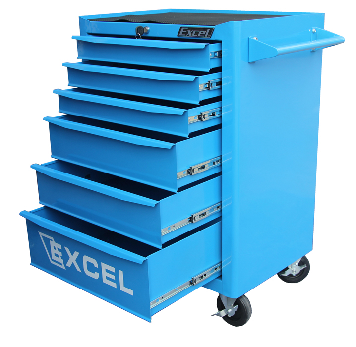"Excel 26"" Roller Cabinet with Six Ball Bearing Slide Drawers"