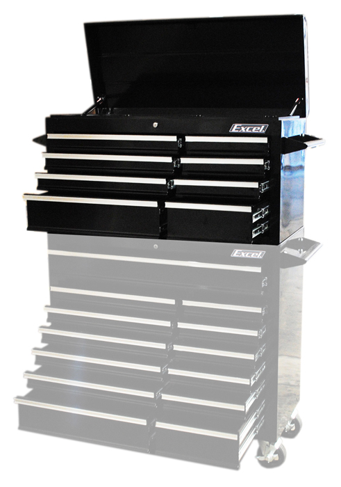 "Excel 41"" Steel top chest with 8 ball bearing slide drawers"