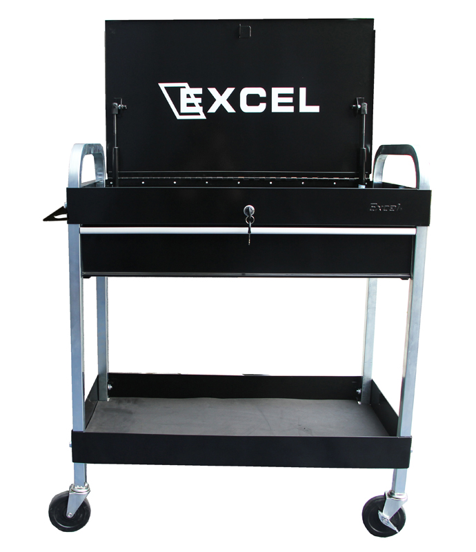 "Excel 30"" Tool Cart with One Ball Bearing Slide Drawer"