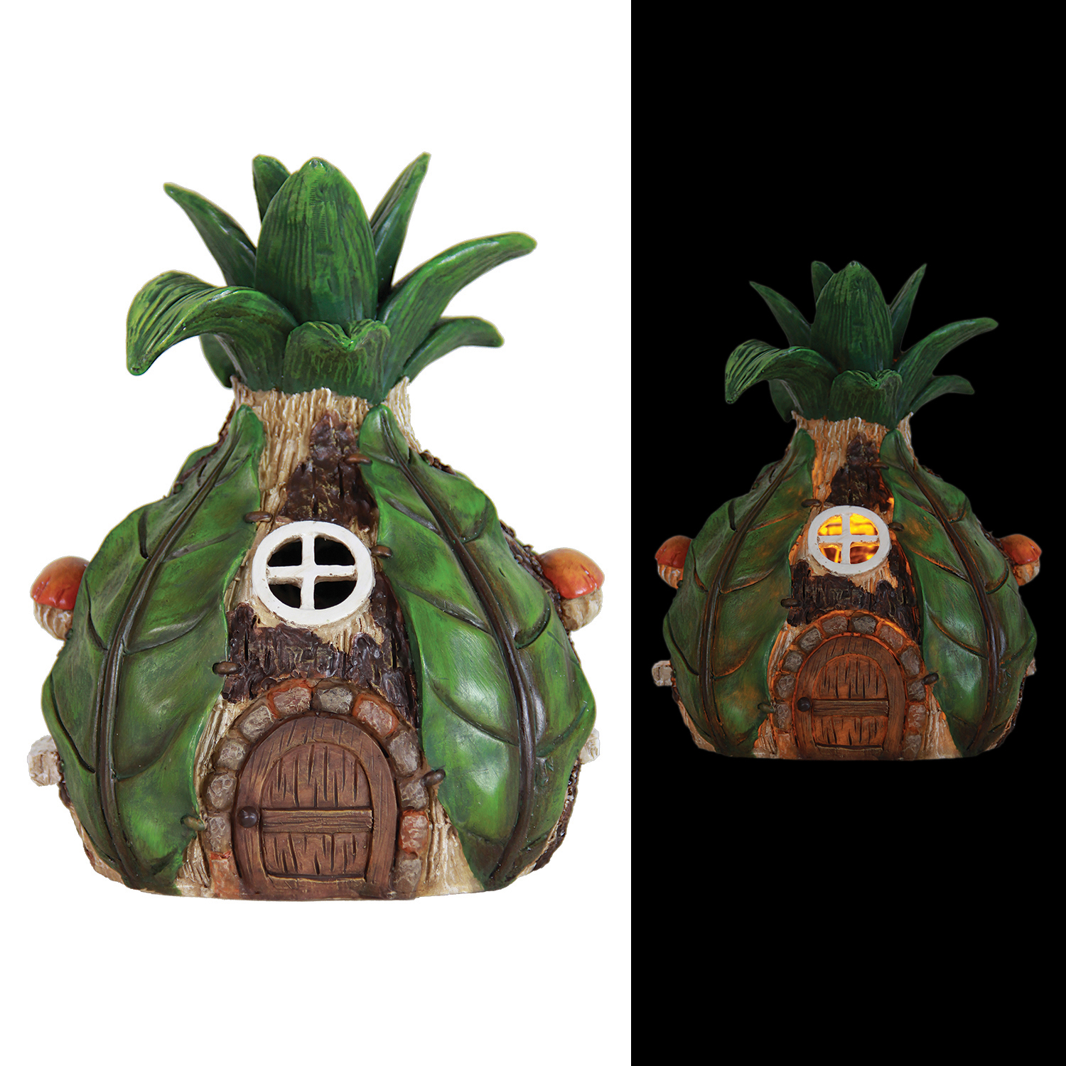 Solar Pineapple House 8.5 inch