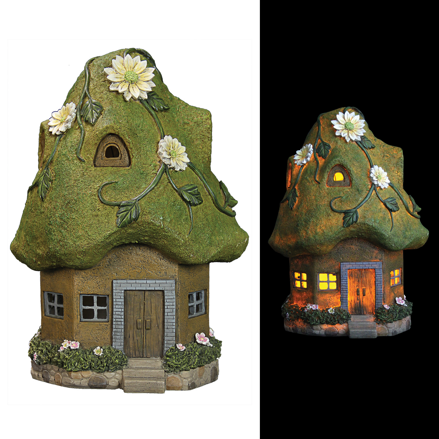 Solar Cottage Moss Roof 14 inch