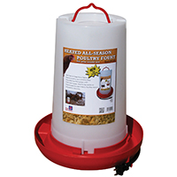 3G HEATED PLASTIC POULTRY FOUNTAIN
