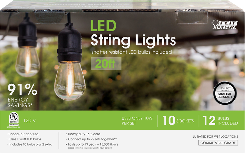 72122 20 FT. LED STRING LIGHT