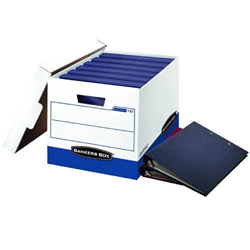 BINDERBOX Storage Box, Locking Lid, 12 1/4 x 18 1/2 x 12, White/Blue, 12/Carton