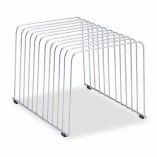 Wire Desktop Organizer, 11 Comp, Wire, 9 x 11 3/8 x 8, Silver