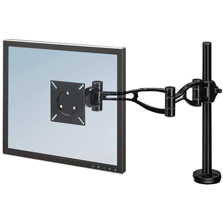 Depth Adjustable Monitor Arm, 21 x 4 3/8 x 24, Black