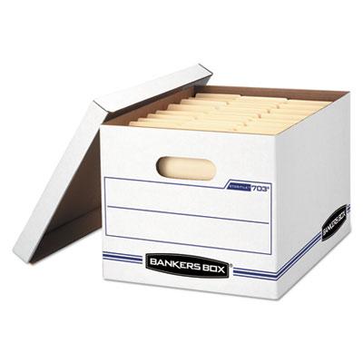 STOR/FILE Basic-Duty Storage Boxes, 12w x 16.25d x 10.5h, White
