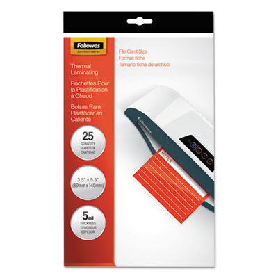 Laminating Pouches, 5mil, 4 1/2 x 6 1/4, 25/Pack