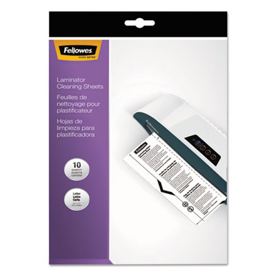 Laminator Cleaning Sheets, 3-10mil, 8 1/2 x 11, 10/Pack