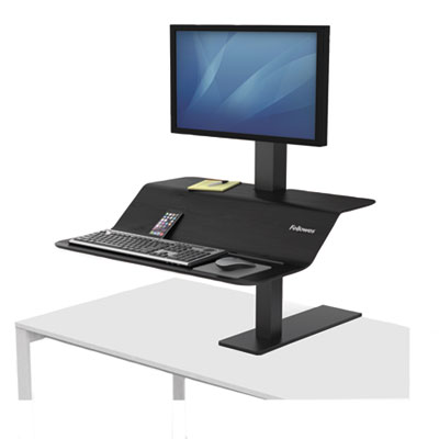 "Lotus VE Sit-Stand Workstation, 32.31"" x 25.25"" x 22.35"", Black"