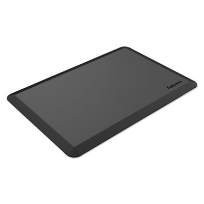 Anti-Fatigue Wellness Mat, Beveled Edge, Rectangle, 35.44 x 23.56, Black