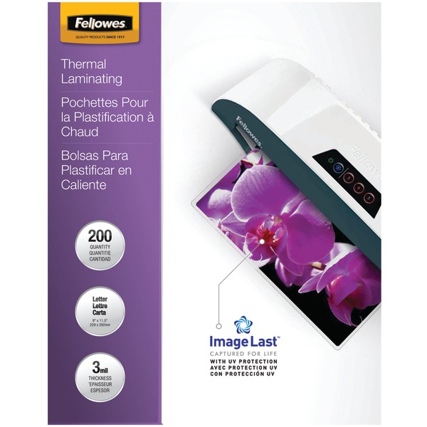 FELLOWES 5244101 ImageLast Laminating Pouches, Letter, 200pk (3Mil)
