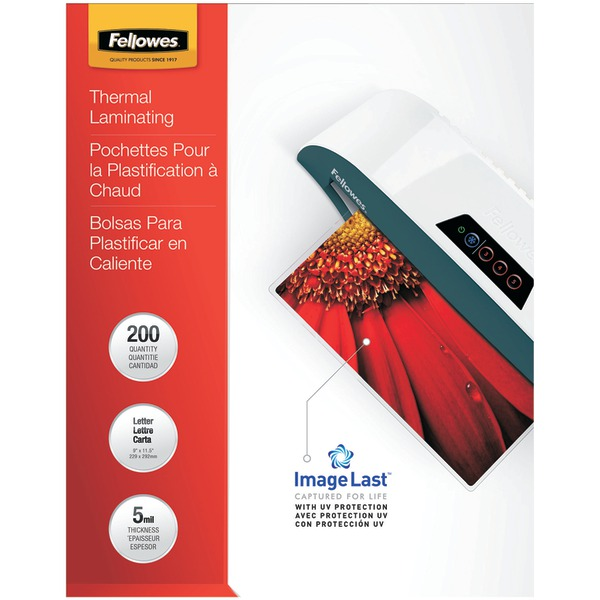 FELLOWES 5245301 ImageLast Laminating Pouches, Letter, 200pk (5Mil)
