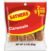 CARAMELS INDIV WRAP BAG 2.3 OZ