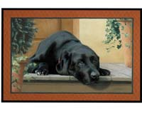 Black Lab Porch Doormat