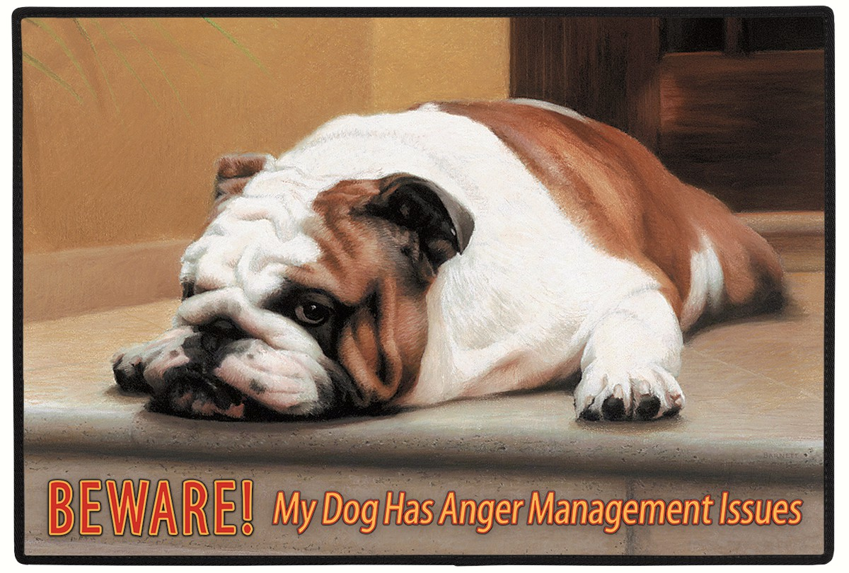 Beware! Anger Management Dog Doormat
