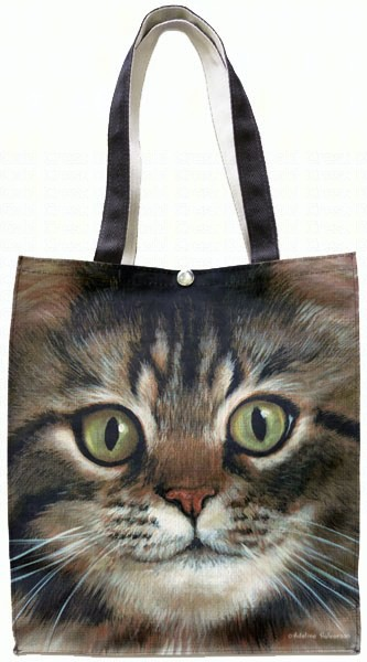Long Haired Tabby Cat Tote