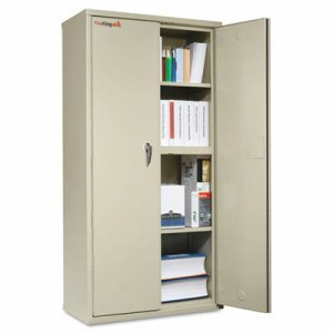 Storage Cabinet, 36w x 19-1/4d x 72h, UL Listed 350�, Parchment