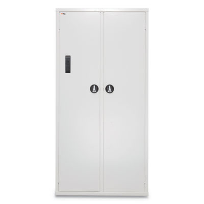 Medical Storage Cabinet with Electronic Lock, 36w x 15d x 72h, White
