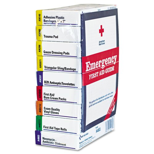 ANSI Compliant 10 Person First Aid Kit Refill, 63-Pieces