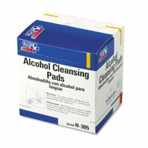 Alcohol Cleansing Pads, Dispenser Box, 100/Box