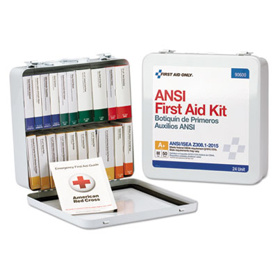 ANSI Class A Weatherproof First Aid Kit for 50 People, 24 Pieces