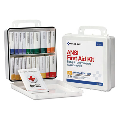 Weatherproof ANSI Class A+ First Aid Kit for 50 People, 24 Pieces