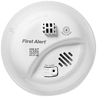 BRK HD6135FB Rate-of-Rise Heat Alarm, 135 deg F, 85 dB, Thermistor LED Display
