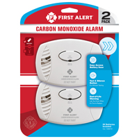 First Alert CO400CN2 Alarm Twin Pack, Carbon Monoxide, AA Battery, Plastic Housing, 9.3 in L X 6.1 in W X 4.1 in H