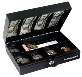 FIRST ALERT 3026F Steel Cash Box with Money Tray