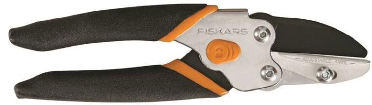 Fiskars Pro Anvil Smooth Action Pruning Shear, 5/8 in Capacity, Hardened Steel Blade