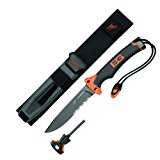 Gerber Bear Grylls Ultimate Fixed Blade Knife, 4.8 in Blade, 10 in L, Gray Ergonomic