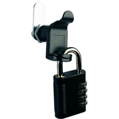 Black Padlockable Cam With Combination Padlock and Key Override - 2 Pack