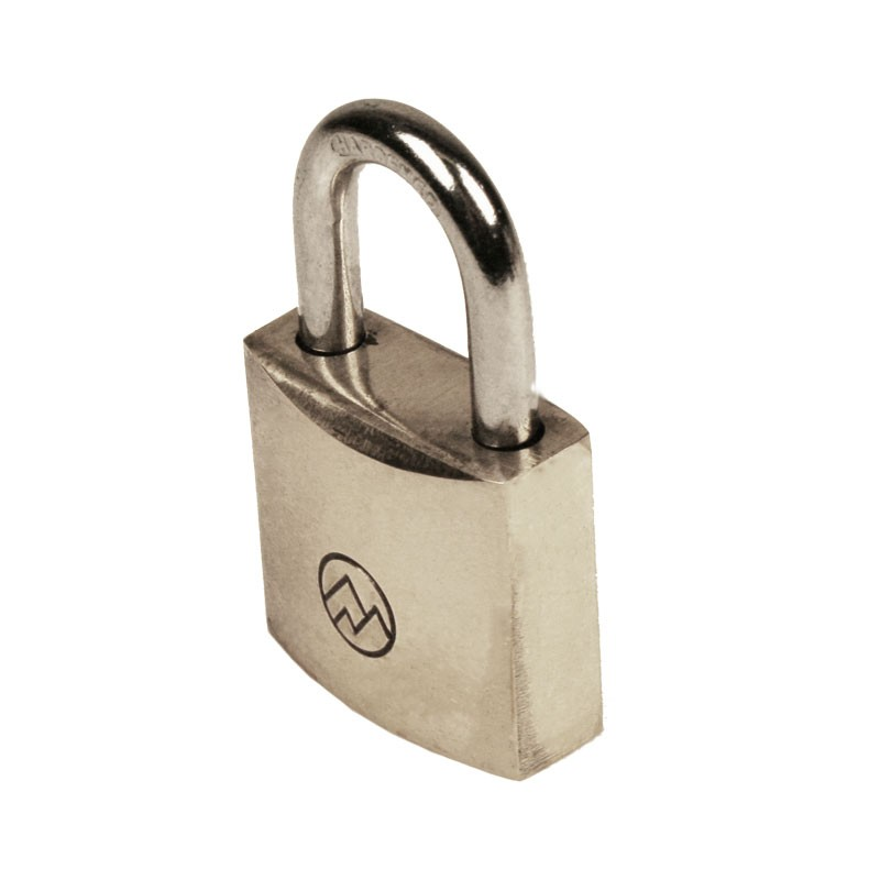 "1"" Keyed Different Solid Brass Padlocks, Pack of 10"