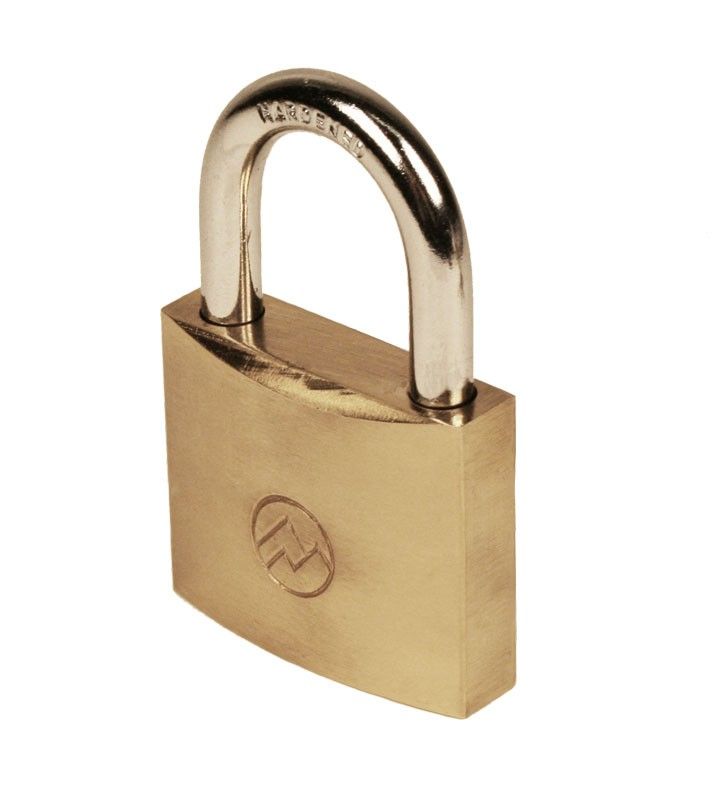 "1-1/4"" Keyed Different Solid Brass Padlocks, Pack of 10"