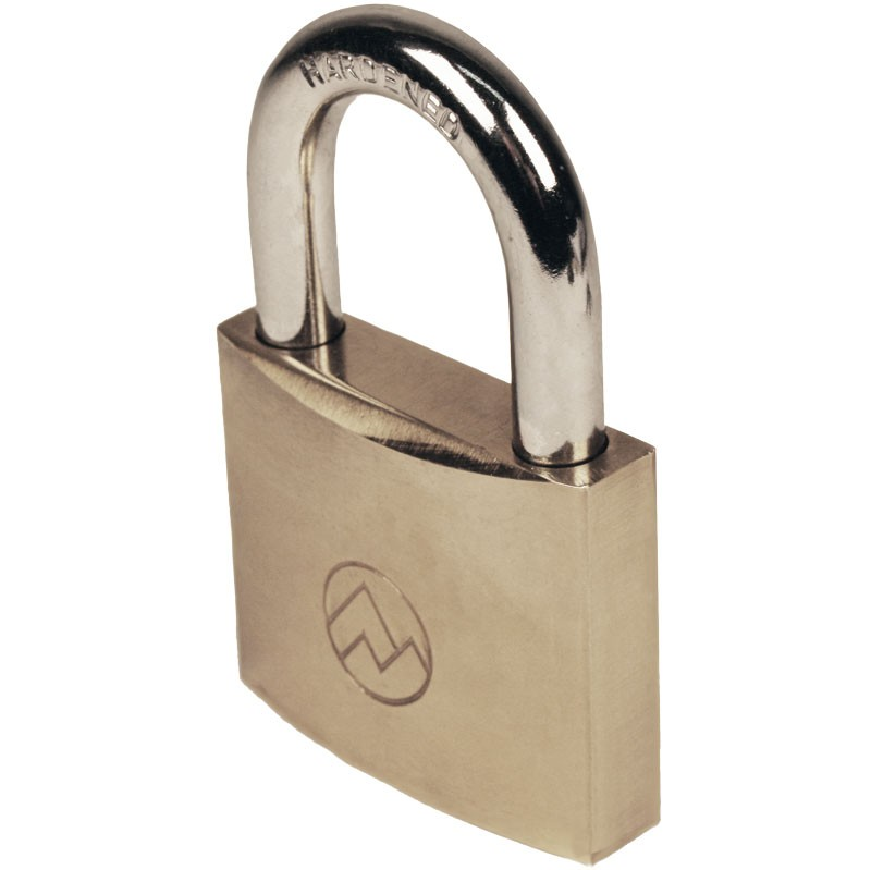 """2"""" Keyed Different Solid Brass Padlocks, Pack of 5"""