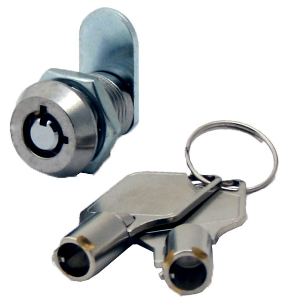 "Miniature Tubular Cam Lock With 1/2"" Cylinder, Keyed Alike - 4 Pack"