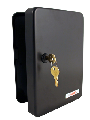 KeyGuard (SL-8548-KB) Black 48-Hook Key Cabinet