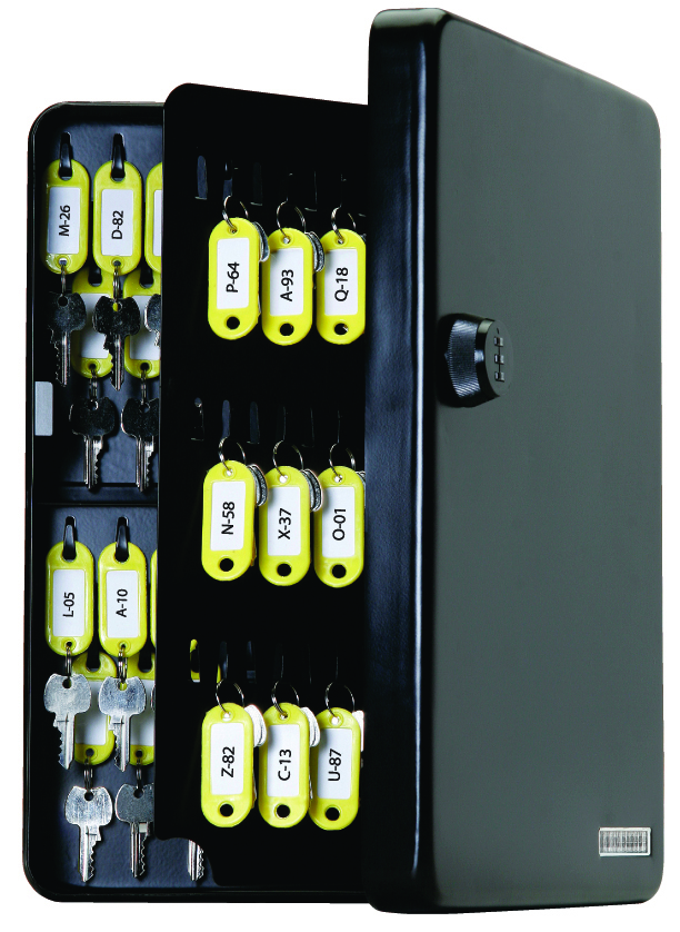 KeyGuard Combination Key Cabinet- 122 hooks