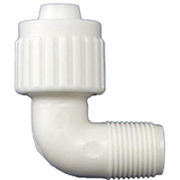 Flair-It 16810 Tube Elbow, 90 Deg, 1/2 x 3/8 in, PEX x MPT, Polybutylene
