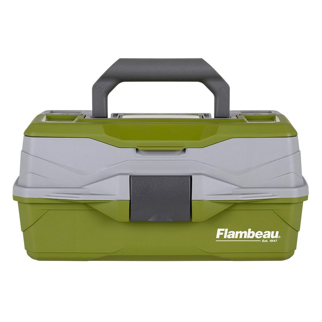 Flambeau 1-Tray Classic Tray Tackle Box Portable Storage Green Gray