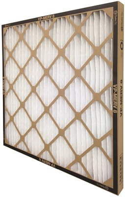 FLANDERS� VP MERV 8 STANDARD-CAPACITY EXTENDED SURFACE PLEATED AIR FILTER, 20X20X1 IN.,