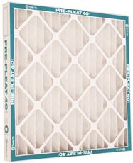 FLANDERS� VP MERV 8 STANDARD-CAPACITY EXTENDED SURFACE PLEATED AIR FILTER, 12X12X1 IN.