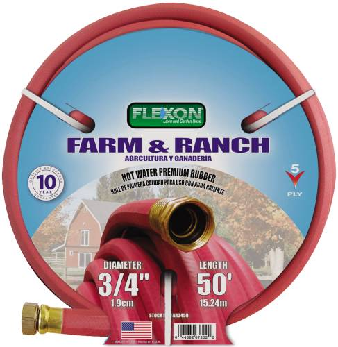 HOT WATER RUBBER HOSE 3/4 IN. X 50 FT., RED