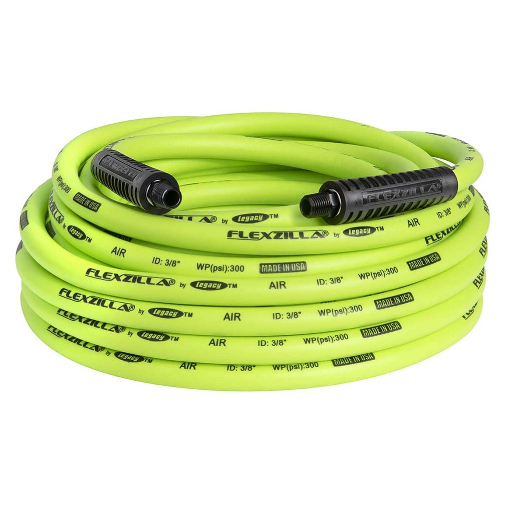 Flexzilla Air Hose 3/8in x 50ft 1/4in MNPT Fittings